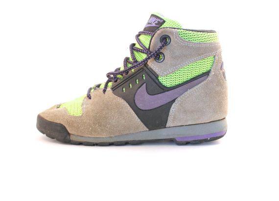 RARE Vintage Retro Women's Nike Lava Dome Neon Green/Purple Hiking