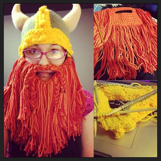 Viking Beard Hat Knitting Pattern : Loom Knit Beard Hat newhairstylesformen2014.com
