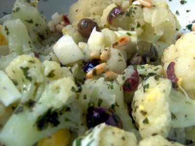 Cauliflower Salad with Olives & Capers | Olives | Pinterest