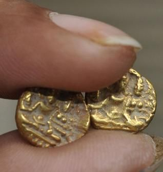 Picture shows gold coins of the Vijayanagara period on display at the  Archaeology Museum, Hyderabad. Photo: P.V.Sivakumar