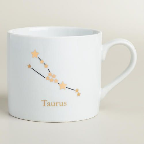 One of my favorite discoveries at WorldMarket.com: Porcelain Taurus Zodiac Mug
