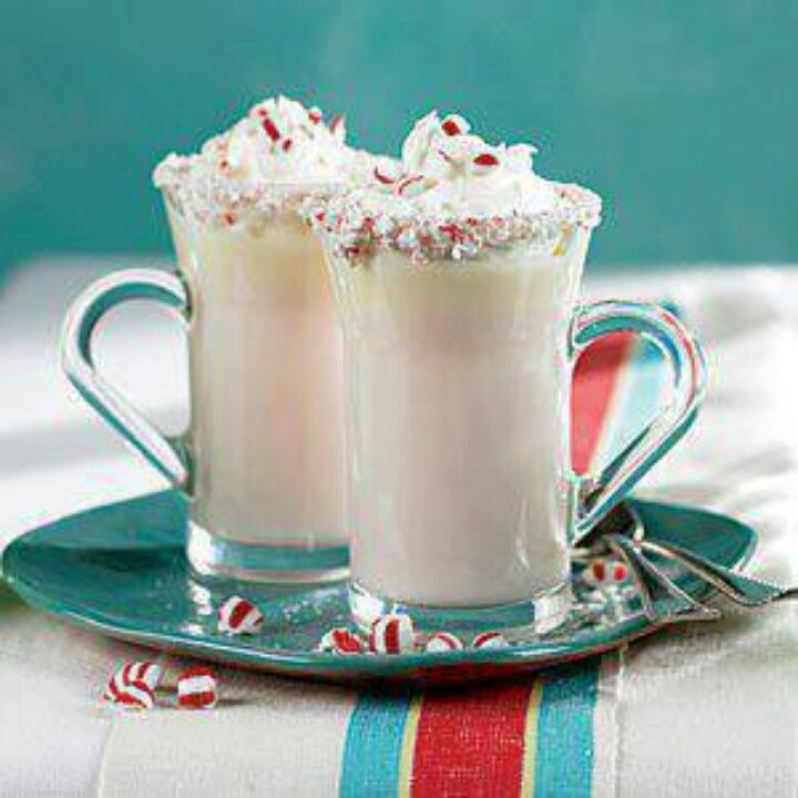 Peppermint white chocolate hot chocolate | Drink Recipes | Pinterest