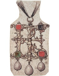 Pendant designed by Holbein of Henry VIII and Jane Seymour's initials