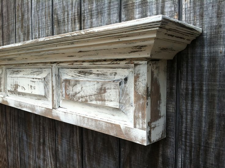 Distressed Shelf Raised Panel Fireplace Mantel Shelf Headboard Fl