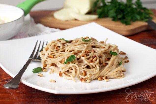 Pasta ai Quattro Formaggi (Four Cheese Whole Wheat Pasta)