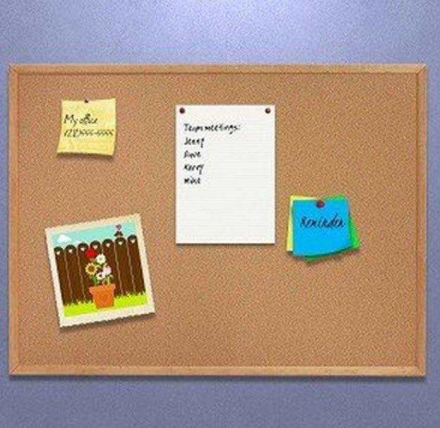 Cork board bulletin board memo board message memo board for Bulletin board ideas for kitchen