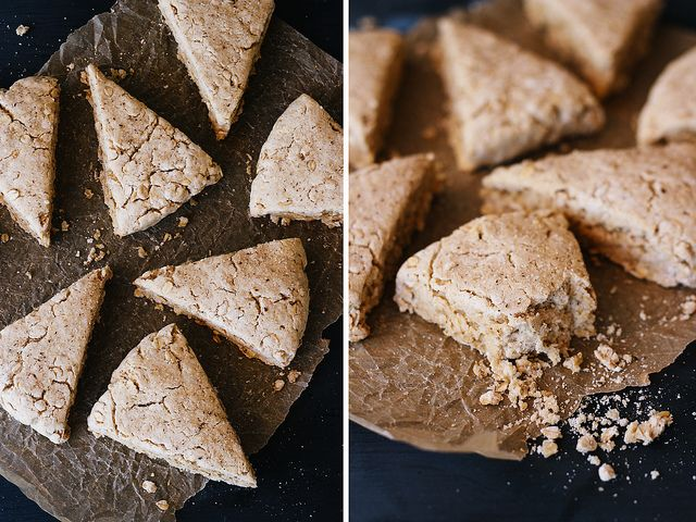 Maple oat scones, using oil instead of shortening and maple syrup as ...