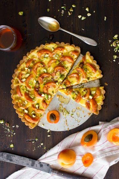 Recipe: Apricot Crème Fraîche Tart with Honey and Pistachios