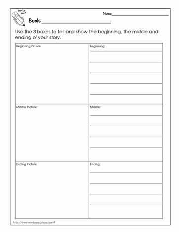 Beginning, Middle, End Book Report | Kindergarten | Pinterest