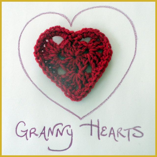 Crochet Granny Square Heart Patterns : Crochet Granny Square Heart Pattern Crochet Pinterest