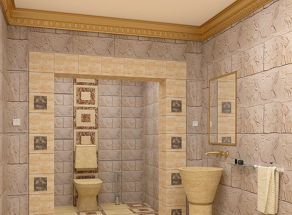 egyptian motive bathroom dream space collection pinterest