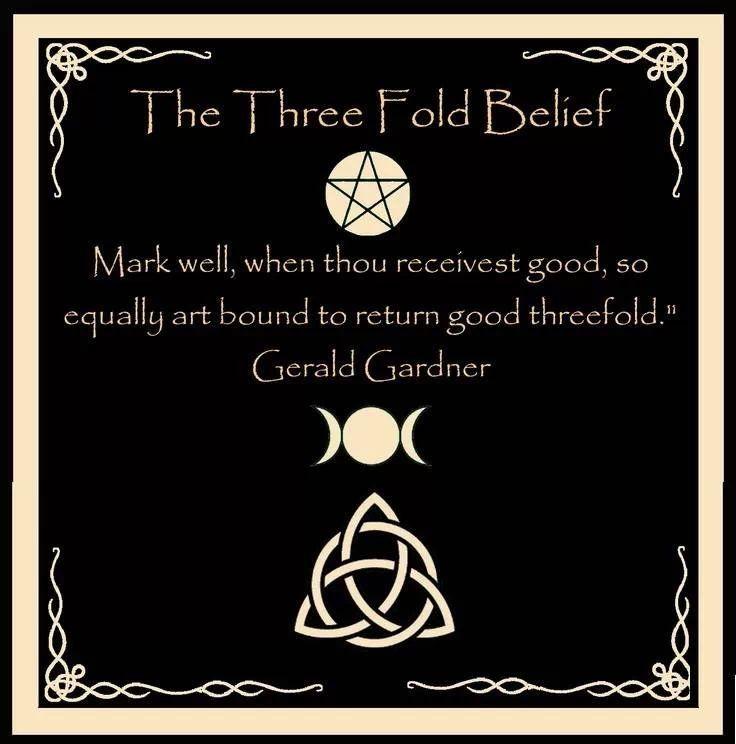 Three fold belief wiccan pinterest