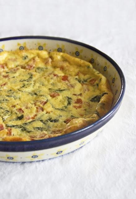 Mozzarella-Tomato-Basil Frittata Recipe — Dishmaps