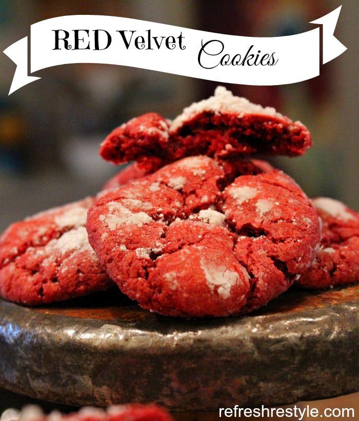 Red Velvet Cookies - super easy 3 ingredients!