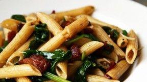 Spinach Bacon Penne Pasta | Italian Recipes | Pinterest