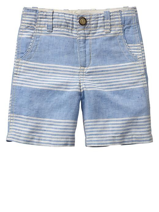 church shorts? W/ polo. Gap | Stripe linen trouser shorts