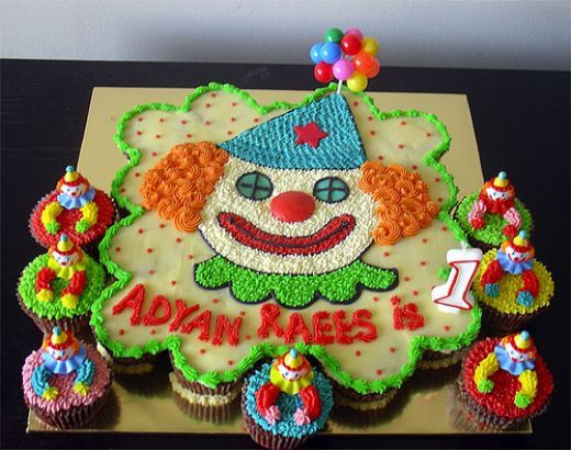 Birthday Cake Ideas Made Out Of Cupcakes : Clowns Cakes Made Out of Cupcakes Birthday Cakes For ...