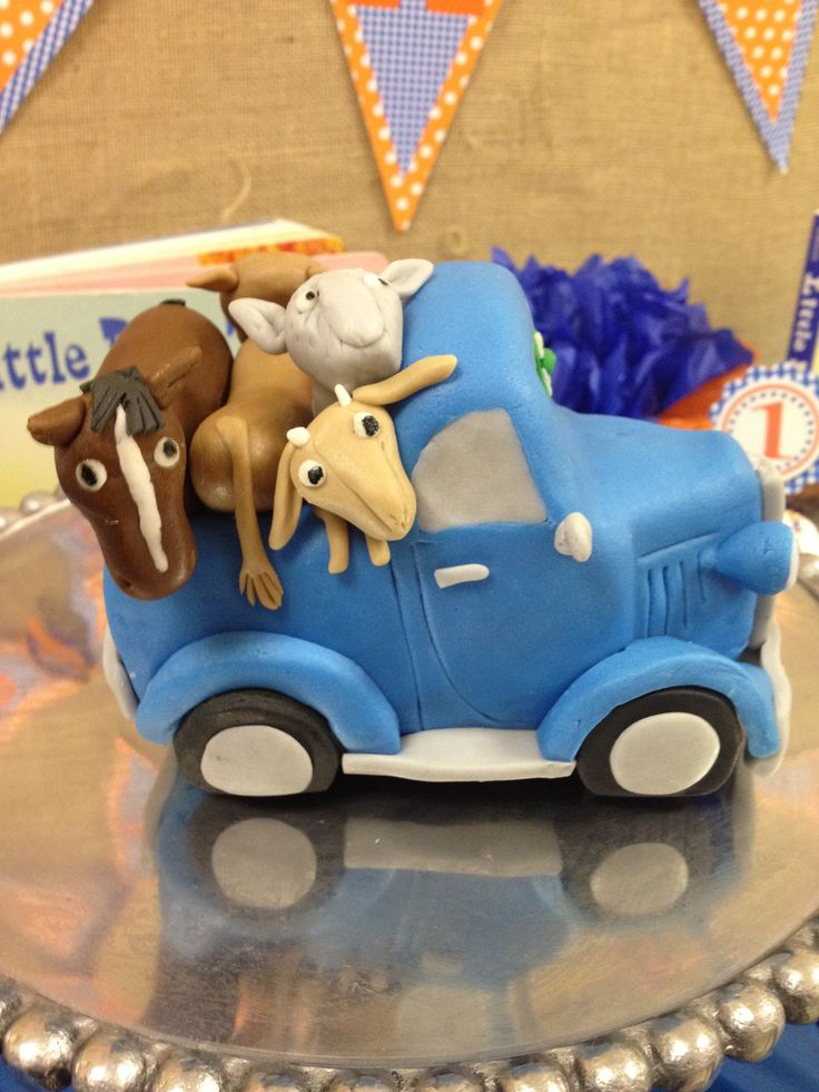 Little Blue Truck - blue and orange- Traces First Birthday