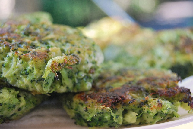Broccoli Parmesan Fritters - | Food I want! | Pinterest