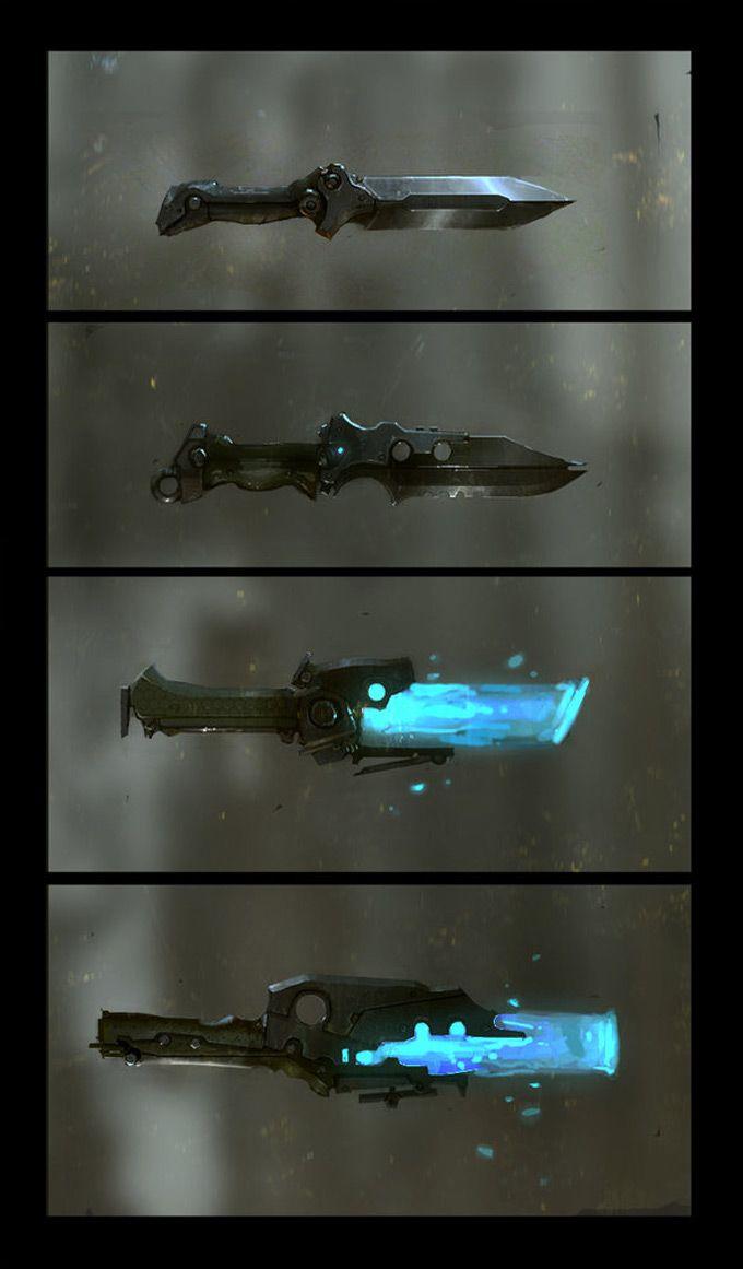 Futuristic Knife | 3D Models - Concept Art | Pinterest