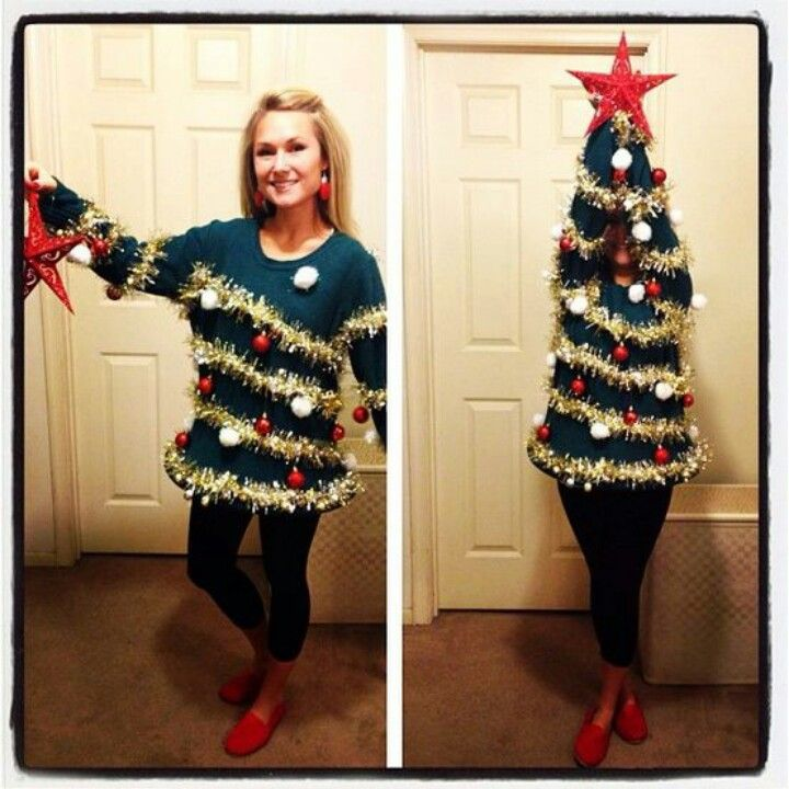 Sweater to Tree- ugly sweater day!