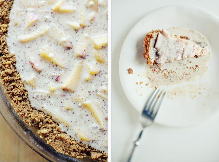 peach creme w/ gingersnap crust | sweet indulgence | Pinterest