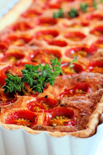Tomato Summer Vegetable Tart Recipe — Dishmaps