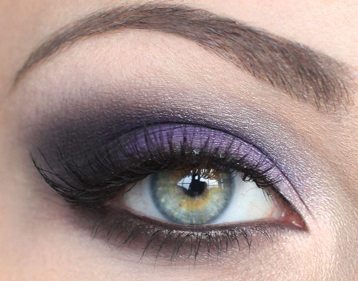 Purple and black smoky...