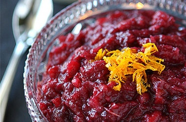 Apple & Cranberry Sauce with Orange & Crystallized Ginger Recipes