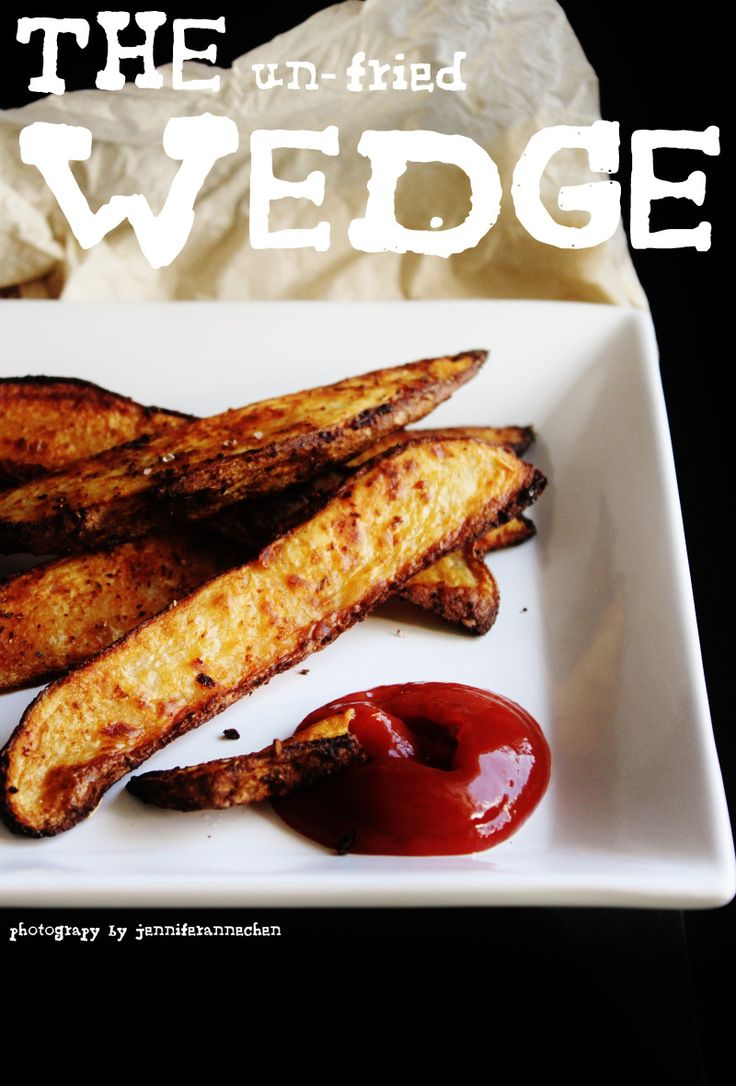oven baked potato wedges | Veggies / Herbs | Pinterest