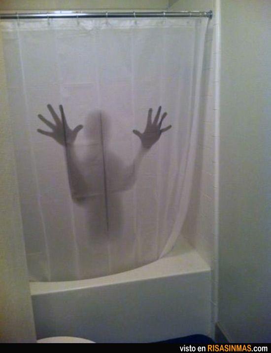 Cortinas De Baño De Halloween:La mejor cortina de baño de todos los tiempos
