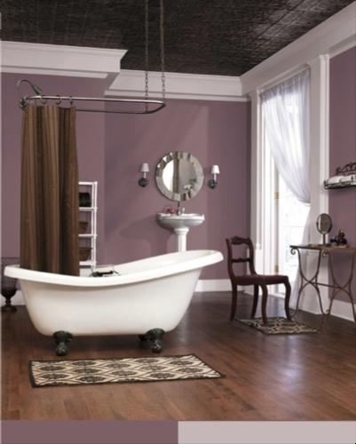 Patchwork plum sw 0022 sherwin williams pinterest for Bathroom ceiling color