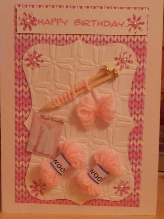 Happy Birthday Knitting Photo : Knitting birthday card cards sewing pinterest