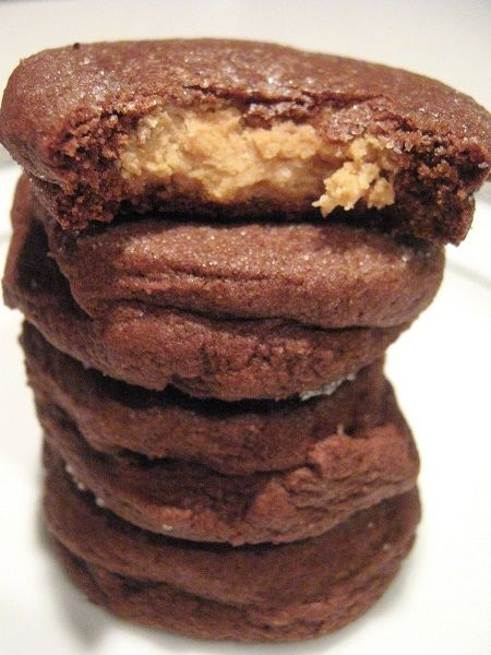 Chocolate Peanut Butter Surprise Cookies | Desserts | Pinterest