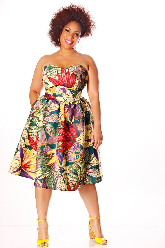 JIBRI Plus Size Jungle Sweetie Dress by jibrionline on Etsy, $230.00