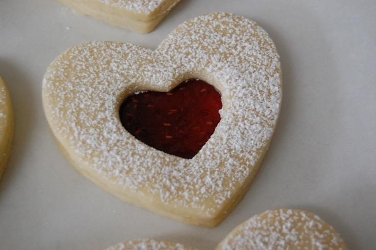 shortbread hearts with raspberry jam | Holiday Eats n Treats - Recipe ...