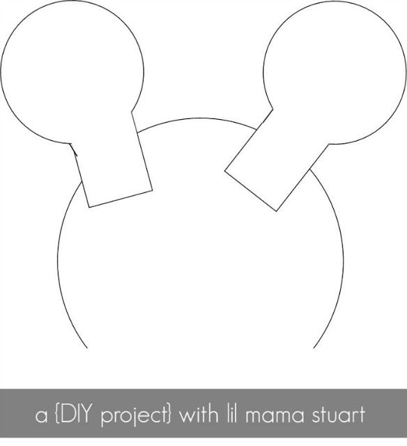 Template minnie mouse ears brae 39 s 2nd birthday pinterest for Template for minnie mouse ears