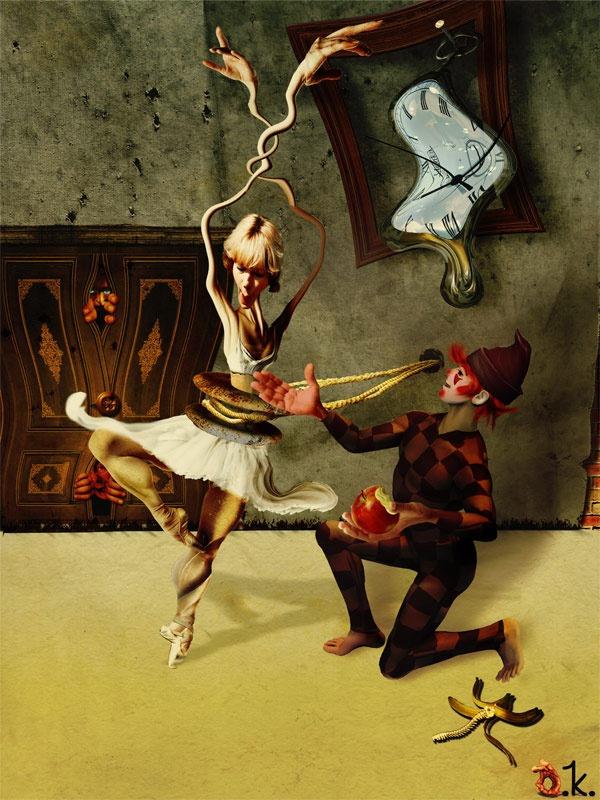 Colombina e Pierrot.