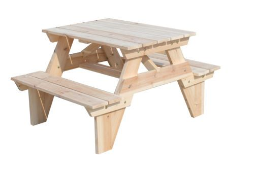new kids picnic bbq wood table chairs outdoor set natural timber chil