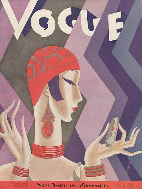 art deco magazine cover fashion costume illustrations