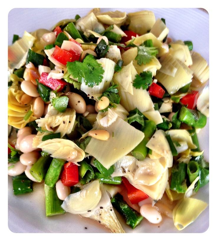 Asparagus Artichoke Salad Recipe — Dishmaps