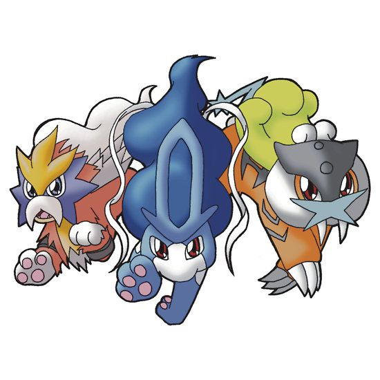 Crowne Beasts- Shiny Entei, Raikou, Suicune   Sticker