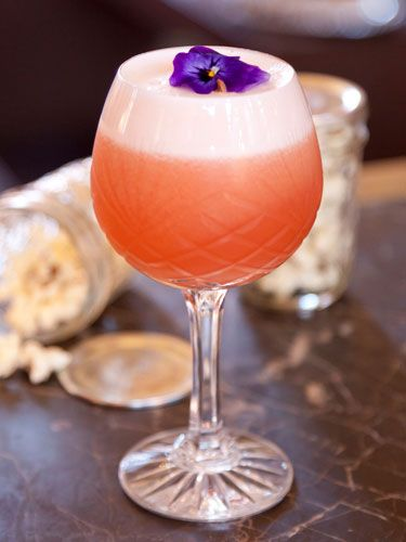 Gilbert Scott's Rhubarb and Ginger Sour #cocktail #recipe #fridayclub