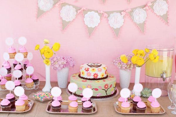 real baby shower pink woodland owls great ideas for baby showers