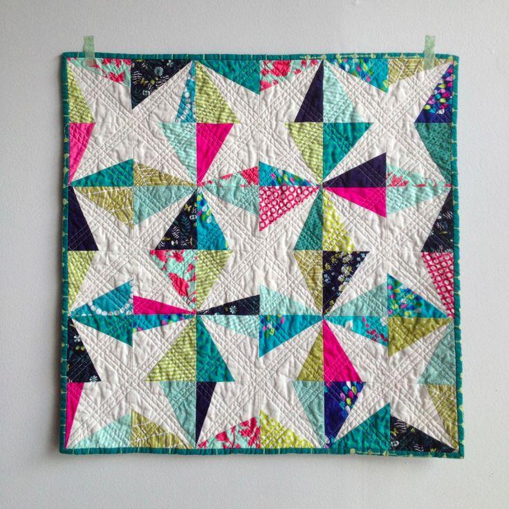 bright wonky stars: Salty Oats Modern Quilt