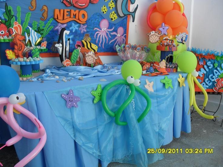Decoración para cumpleaños con motivo nemo - Imagui