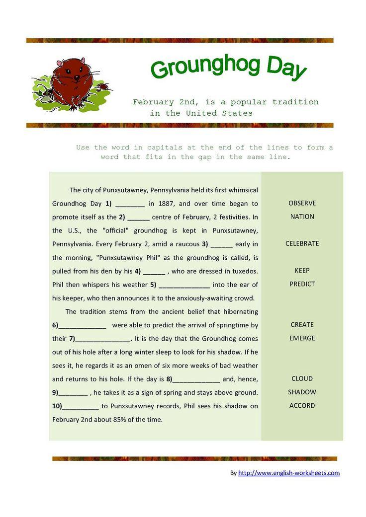 Groundhog Day Worksheet | Our Homeschool: Holidays | Pinterest