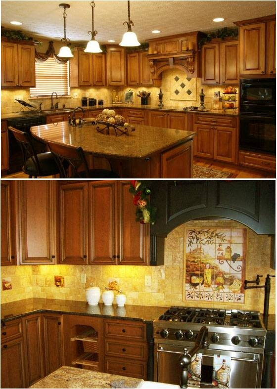 Tuscan kitchen designs and colors kitchen counter decor for Kitchen counter decor