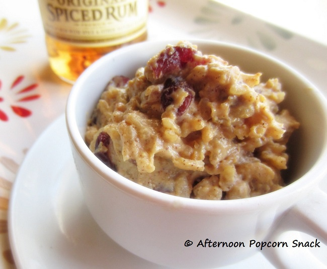Rice Pudding with Rummy Cranberries / Afternoon Popcorn Snack