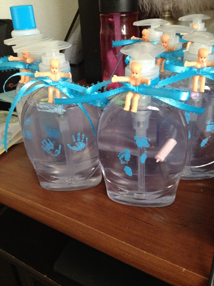 Baby shower favors buy a clear softsoap and remove the for Baby shower decoration store